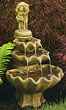 Small 3- Tier Girl & Boy Under Open Umberella Fountain #3320 basin #2089-f7