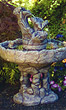 Three Tier Frog Stone Fountain #3375 basin #2089-f7