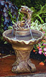One Tier Leaf Fountain #3390 basin #2089-f7
