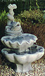 Two-Tier Ornamental Fish Fountain #3413 basin #2089-f7
