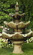 Three Tier Tulip Leaf Fountain #3417 basin #2089-f7
