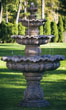 Three Tier Scallop Fountain #3446 basin #2089-f7