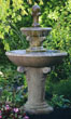 63&quot; Two Tier Distressed Scroll Fountain #3459 basin #2089-f7