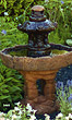 "42"" Small Pagoda Fountain #3465 basin #2089-f7"