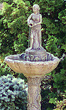 "56"" Small Girl with Jug on Scroll Shell Fountain #3468 basin #2089-f7"