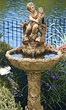 "54"" Double Fish & Cherub Fountain #3477 basin #2089-f7"