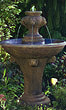 One Tier Lion Finial Fountain #3479 basin #2089-f7