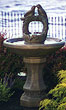 Nesting Birds on Vine Sphere Fountain #3486 basin #2089-f7