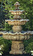 Three Tier Scallop Fountain #3524 basin #2089-f7