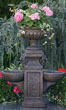 Double Bowl Fountain with Milano Urn #3527 basin #2089-f7