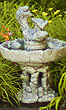 Three Tier Fish Stone Fountain #3530 basin #2089-f7