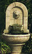 Lion Finial Garden Fountain #3567 basin #2089-f7