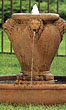 Contemporary Lion Urn Fountain #3569 basin #2089-f7
