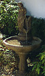 One Tier Lady by the Well Fountain #3585 basin #2089-f7