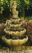Four Tier Small Girl with Umbrella Fountain #3590 basin #2089-f7