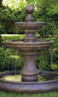 Opal Two Tier Fountain with Pool #3594 basin #2089-f7
