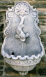 Rustico Lion Wall Fountain #3619 basin #2089-f7