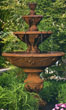 Four Tier Harvest Fountain #3607 basin #2089-f7