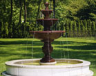 Four Tier Harvest Fountain on 8' Pool