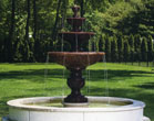 Four Tier Sonoma Fountain on 8' Pool #3633