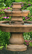 Two Tier Oval Assisi Fountain #3648 basin #2089-f7