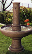 Emilia Column Fountain #3651 basin #2089-f7