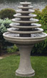 7-Tier Gozo Fountain on Pedestal #3663 basin #2089-f7