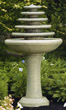 5-Tier Gozo Fountain on Pedestal #3674 basin #2089-f7