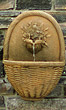 Wicker Basket Wall Fountain #3876 basin #2089-f7