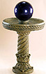 Ornate Swirl Bird Bath with Globe #427-G