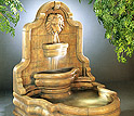 Wall Fountains - Lion Face Terrazzo Fountain