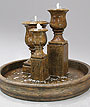Outdoor Water Fountains - Elegant Urn Trio Fountain