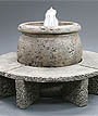 Mall Fountain w/Granite Benches #670-XFGB