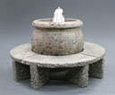 Mall Fountain with Granite Benches #670-XFGB