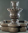 Scallop Urn Fountain with Quatrefoil Basin #679-FQ