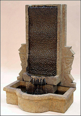Oceania Wall Fountain #LG132-FW :  garden outdoor fountain water