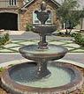 """Mediterranean Fountain w/82"""" Basin #LG134-FAWC"""