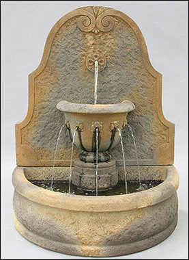 Parisian Wall Fountain #LG138-FW :  garden outdoor tiered fountain