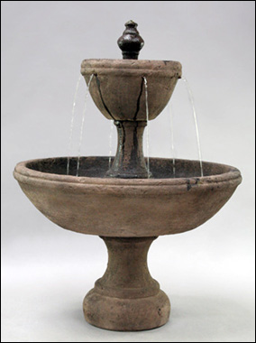 Vignoble Fountain #LG140-F :  garden outdoor tiered fountain