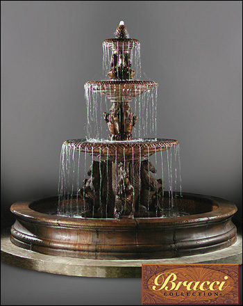 Cavalli Fountain Fountain #2133-F12 :  garden outdoor tiered fountain
