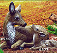 Reclining Doe #576 Fawn #577