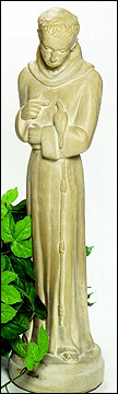 St. Francis with Dove #100 :  garden outdoor tiered fountain