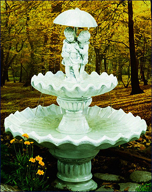 Sweetheart 2 Tier Fountain #237-F44D :  garden outdoor tiered fountain
