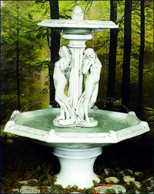 Three Graces Fountain #200-F5 :  garden outdoor tiered fountain